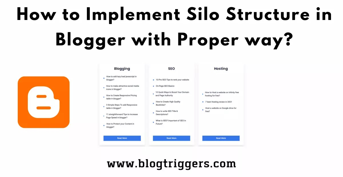 What is Silo Structure in SEO? How to Implement in blogger?