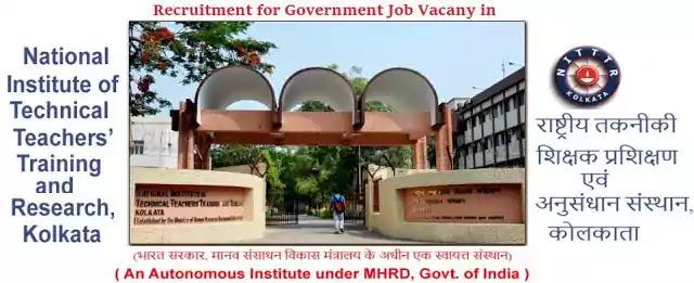 NITTTR Kolkata Government Jobs