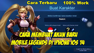 Cara Membuat Akun Baru Mobile Legends Di Iphone IOS 14