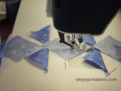 chain piecing no waste flying geese