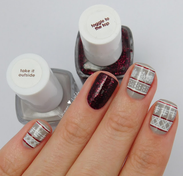 Winter Nail art Essie Toggle to the Top