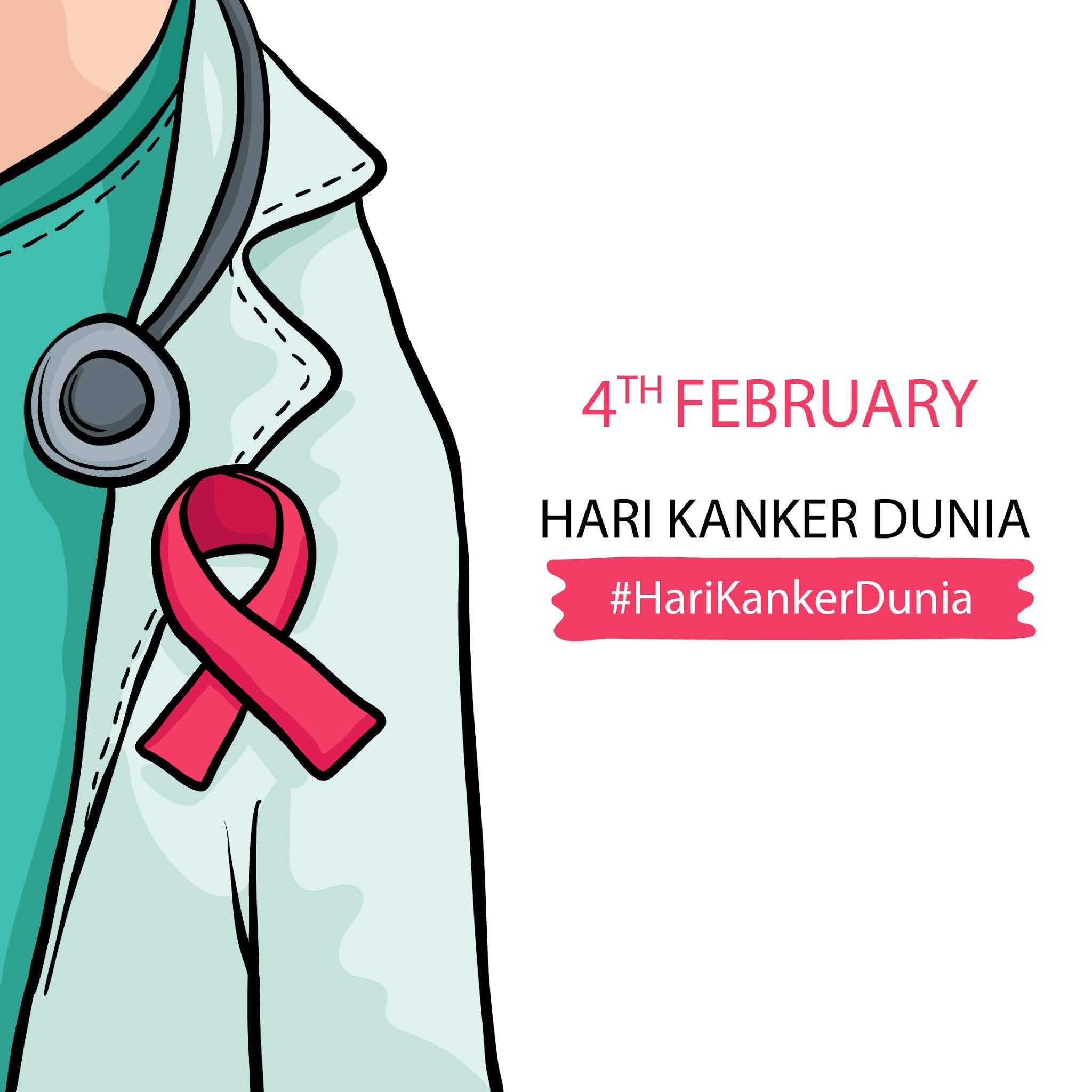 HARI KAKNER DUNIA : Kumpulan Gambar Desain Template hari Kanker Dunia 2021