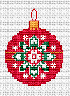 Free Printable Christmas Ornament Cross Stitch Patterns.Free Cross Stitch Patterns September 2017