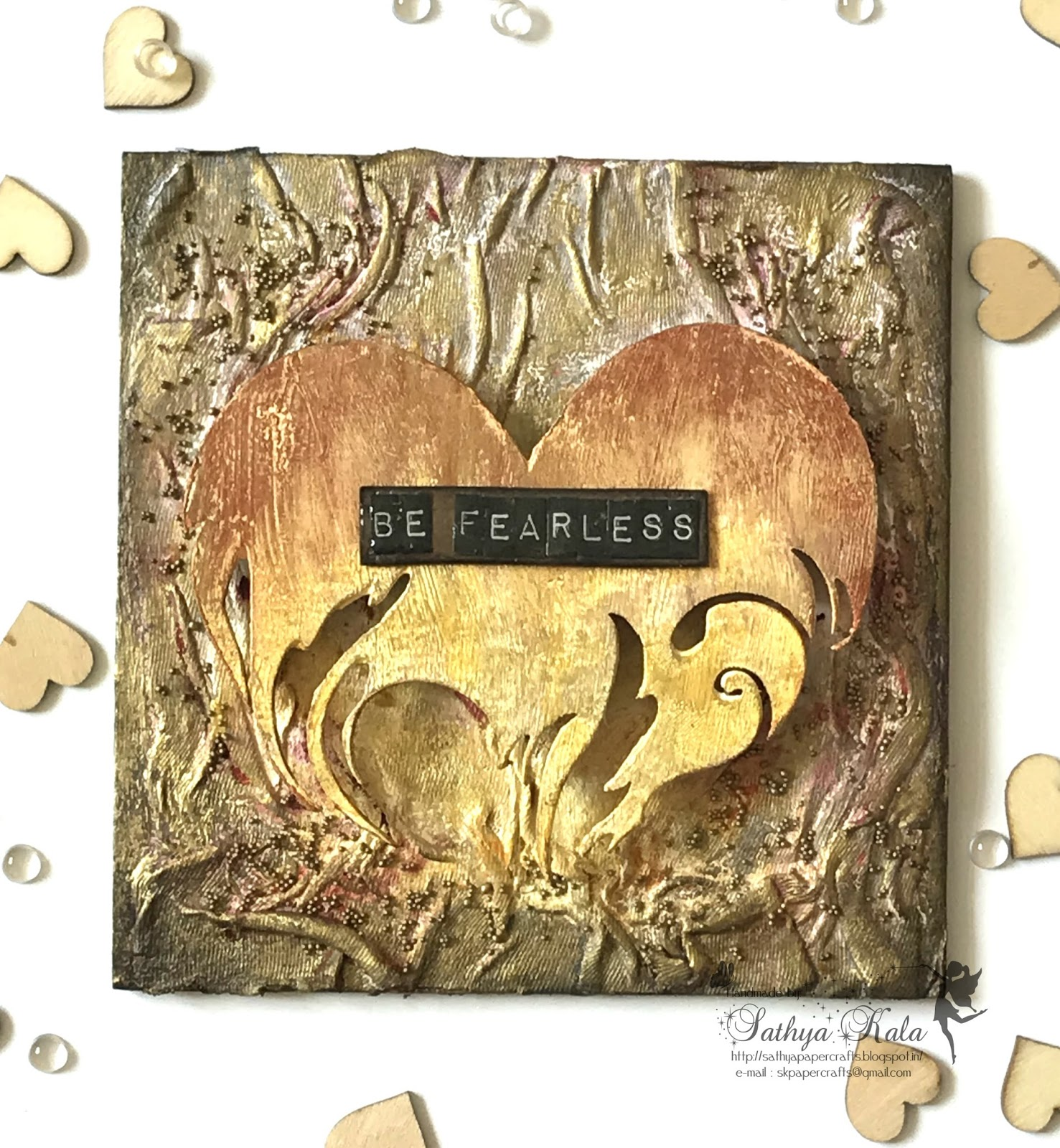 Paperie Expressions: Be Fearless : Mixed Media Wall Art