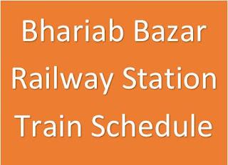 Bhariab bazar station train schedule