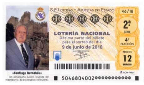 Lotería nacional del sábado 9 de junio de 2018