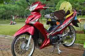 modifikasi motor supra x 125 ala thailand