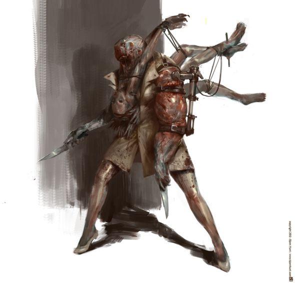 Bjorn Hurri ilustrações artes conceituais fantasia games Silent Hill fan-art