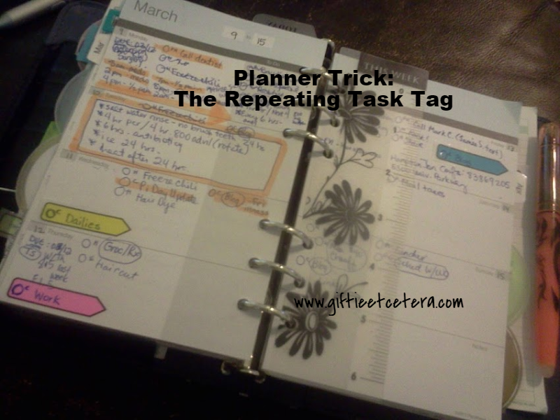 planner, weekly, repeating, tasks, to dos, to do list, post-it