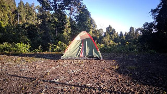 Tenda saya berdiri di perkemahan Gunung Luhur