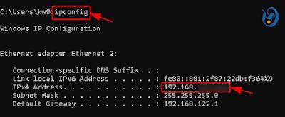 Check Ip address on Windows 10/7