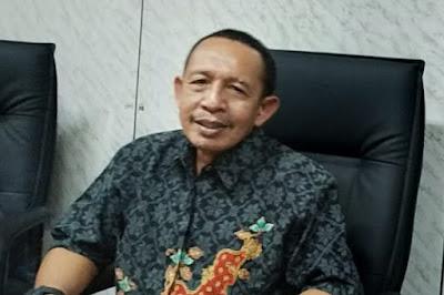 Rektor Unversitas 45 Mataram dan penerima penghargaan Ideathon Kemenristek/BRIN 2020, Dr. Ir. Evron Asrial, M.Si