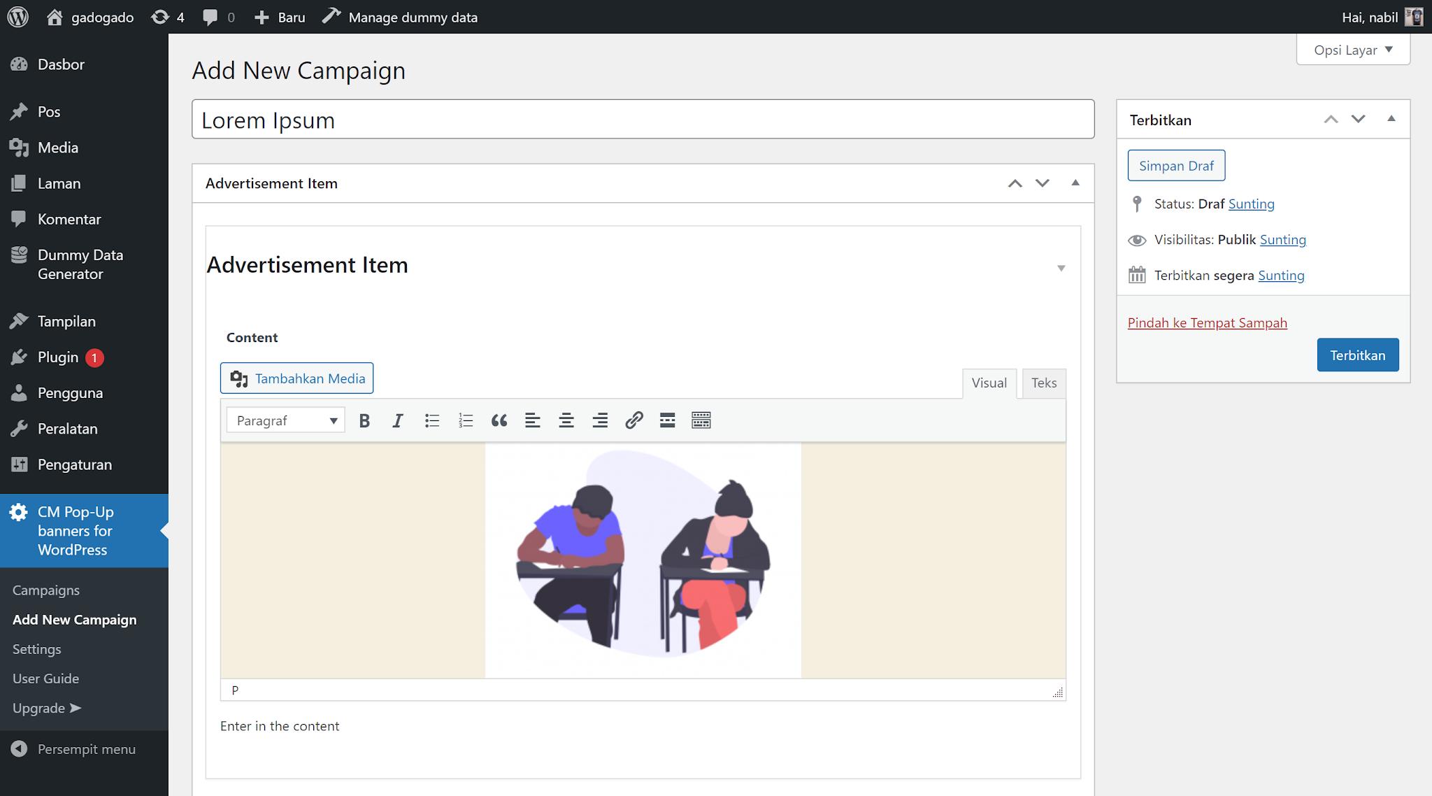 Membuat popup di wordpress