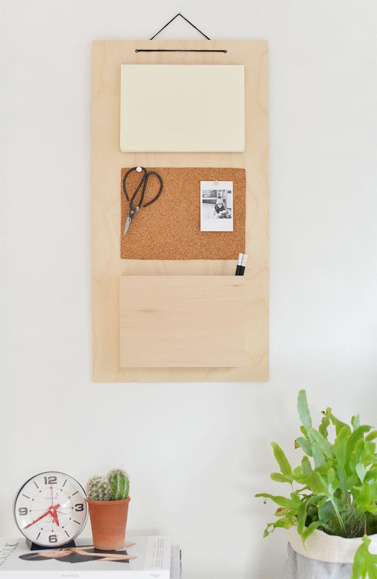 organizador escritorio madera DIY