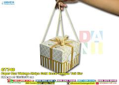 Paper Box Vintage Stripe Gold Besar Dengan Tali Kor