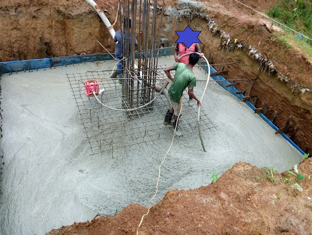 How to calculate Concrete  volume of trapezoidal footing at the Project???