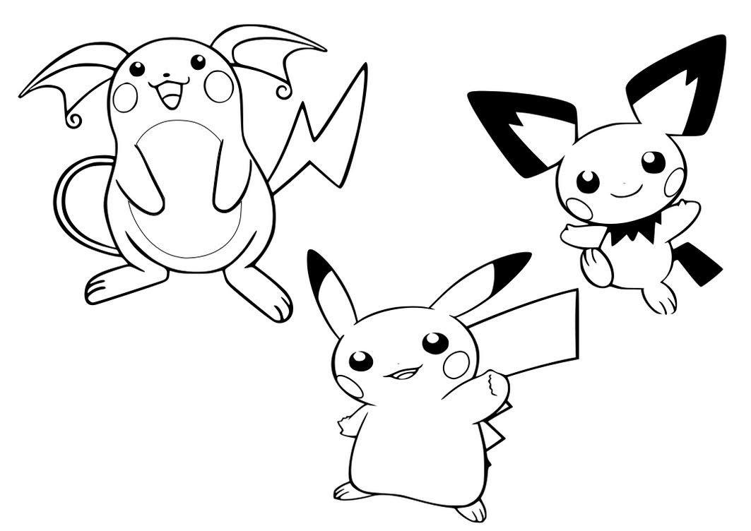 Pokemon Pichu Coloring Pages to Print - Free Pokemon ...