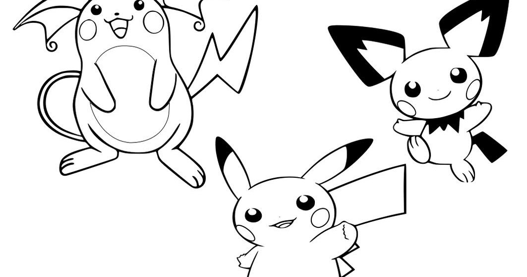 Pokemon Pichu Coloring Pages To Print Free Pokemon Coloring Pages