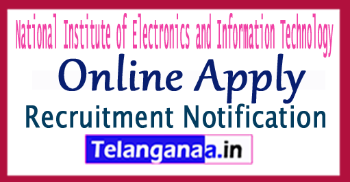 NIELIT National Institute of Electronics and Information Technology Recruitment Notification 2017