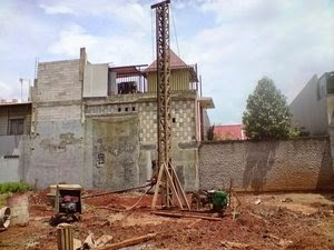 jasa bore pile mesin mini crane