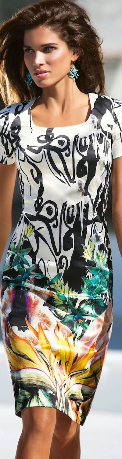 MADELEINE Sheath Print Dress