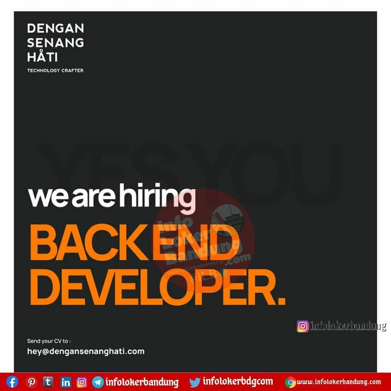 Lowongan Kerja Dengan Senang Hati Technology Crafter Bandung Juni 2021