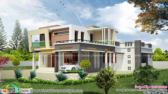 2813 sq-ft 4 BHK modern home