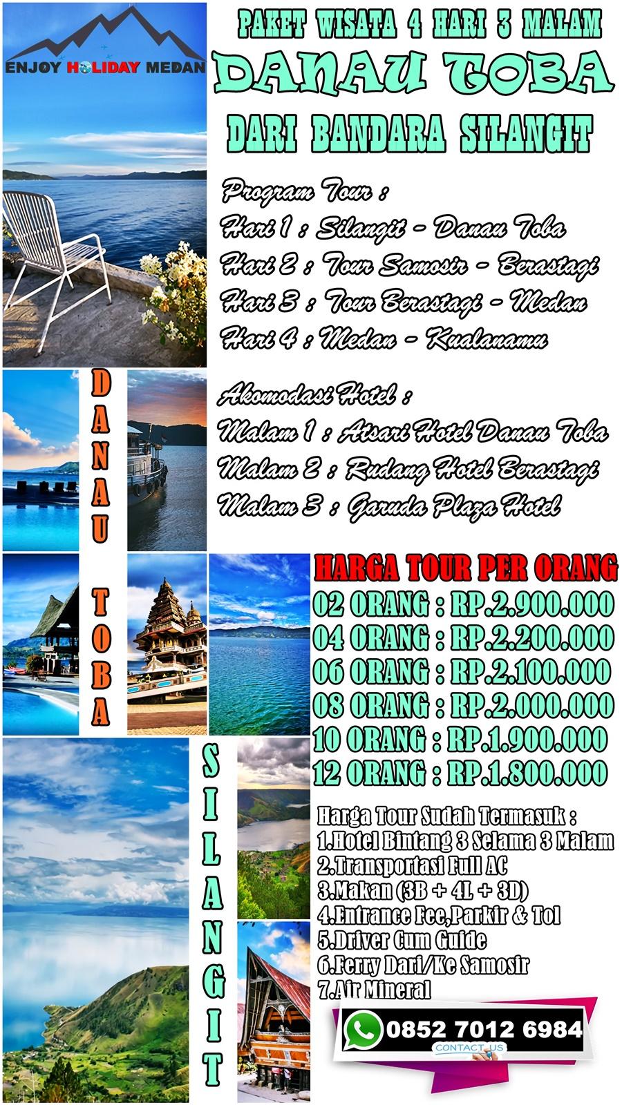4D3N Paket Wisata Danau Toba Dari Silangit
