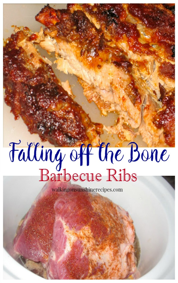 Falling off the Bone Barbecue Ribs from Walking on Sunshine Recipes