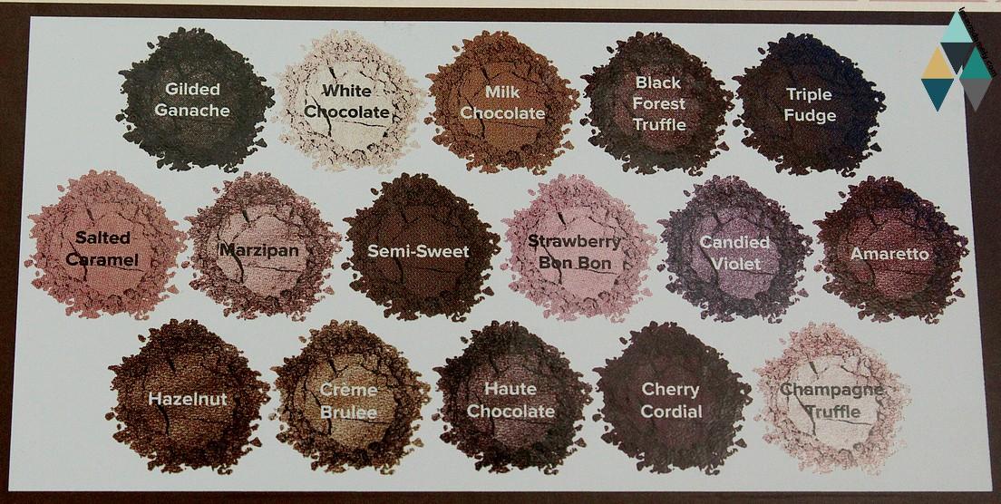 16 teintes marron chocolat mat satiné