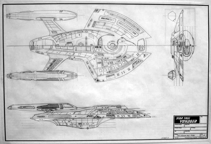 The trek collective rick sternbachs ebay treasures here are a few of the blueprint sheets on offer here a cross section of deep space 9 plus plans for the uss equinox and delta flyer malvernweather Images