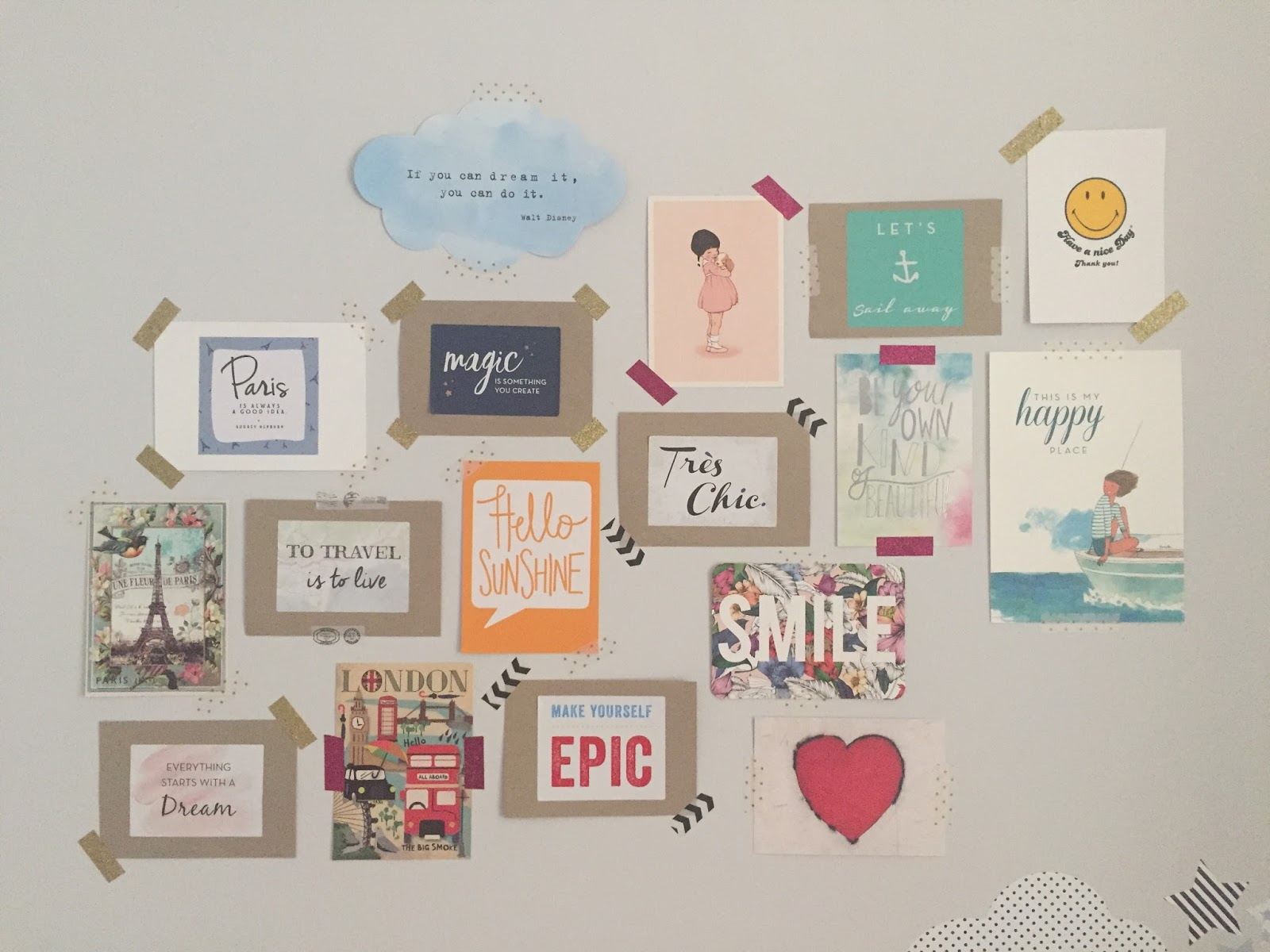interiors quick updates the washi tape gallery wall