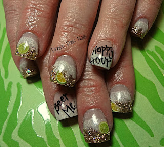 st patricks day beer nails