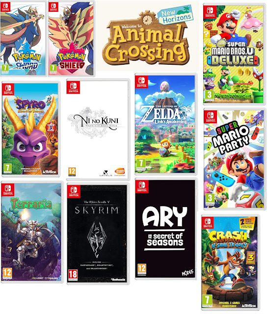video games, games, video game wishlist, wishlists, game wishlists, nintendo switch, switch, nintendo switch wishlist, switch wishlist, pokemon sword, pokemon shield, animal crossing new horizons, spyro, mario, skyrim, ni no kuni, link's awakening, legend of zelda, ary and the secret of seasons, super mario party, nintendo,