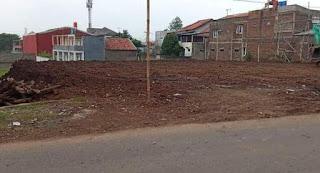 tanah datar pinggir jalan pandan wangi cinunuk