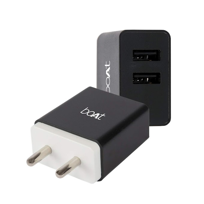 boAt WCD 3.1A Fast Charging Adapter with Dual Ports and Smart IC Protection (Black) Rs.399 @ Amazon