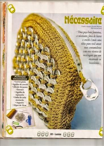 Monedero reciclado tejido con ganchillo - paso a paso
