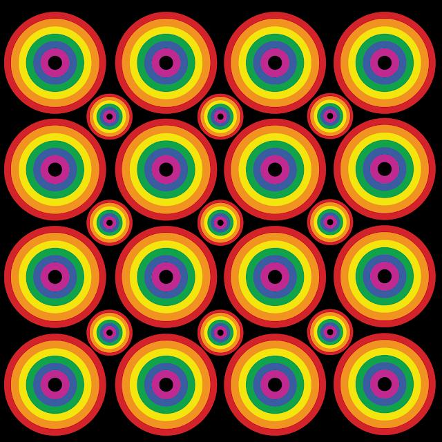Gay Pride - Circle Rainbow Pattern of Pride
