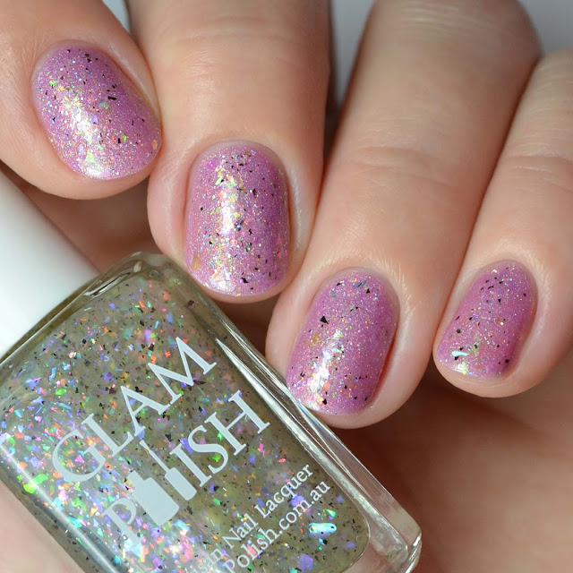 iridescent flakie nail polish topper