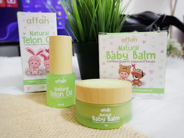 Affan Natural Baby Balm dan Natural Telon Oil Untuk Keselesaan Bayi Kembung Perut