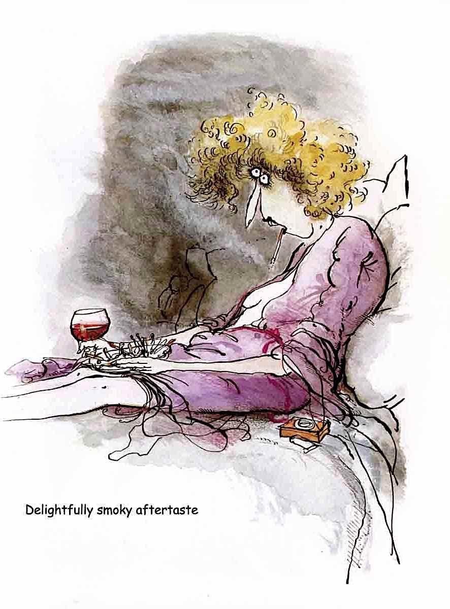 a Ronald Searle alcohol cartoon