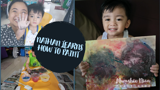 Painting with your toddlers is one of the fun activities that will enhance their creativity