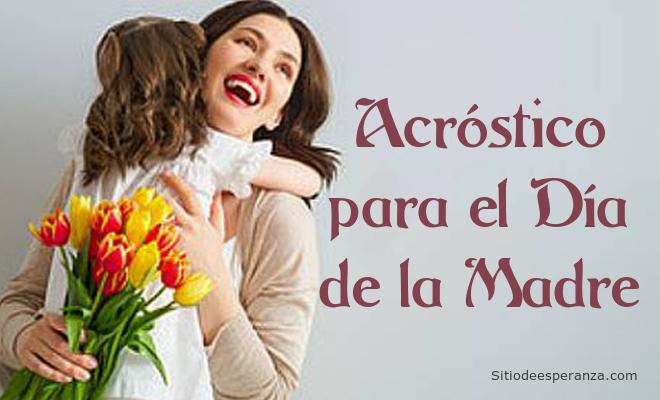 Acróstico para el Día de la Madre