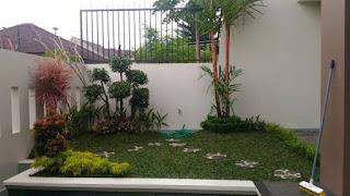 Jasa Tukang Taman Cileungsi Bogor / Dekorasi Taman Minimalis / Pasang Rumput Taman