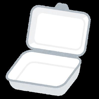 テイクアウト用の容器のイラスト