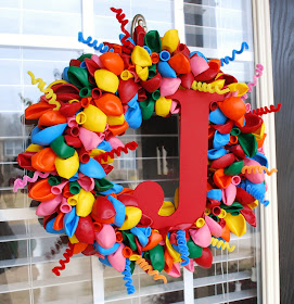Custom Monogram Balloon Wreath for sale on Etsy