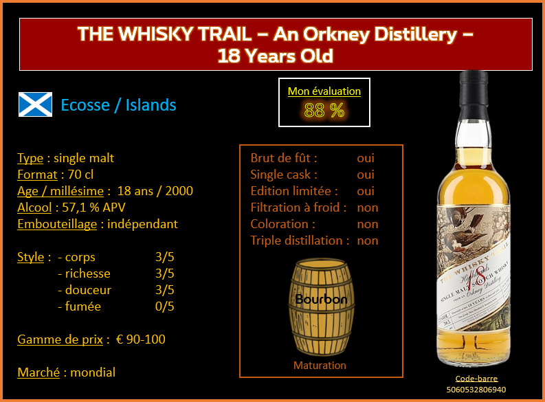 Review #762 : The Whisky Trail – An Orkney Distillery – 18 Years Old
