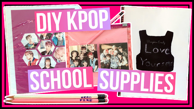 DIY Kpop School Supplies BTS & Monsta X B2S Collab