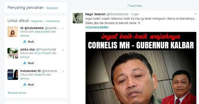 Diusir dari Aceh, #CornelisSARA Jadi Trending | Muslimina