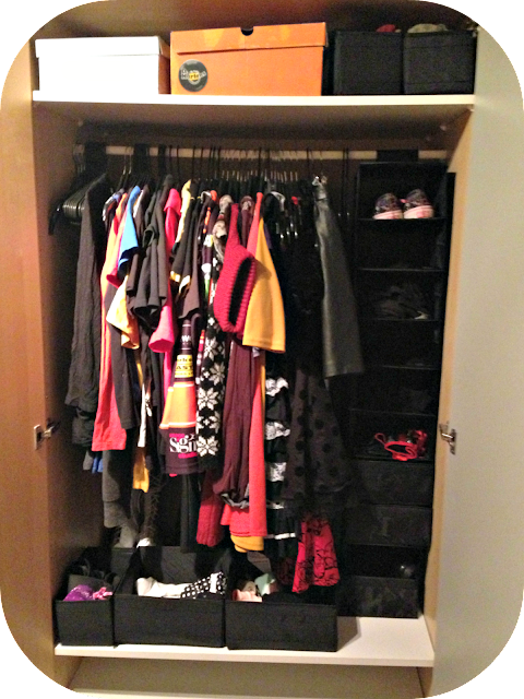 Wardrobe with ikea dividers